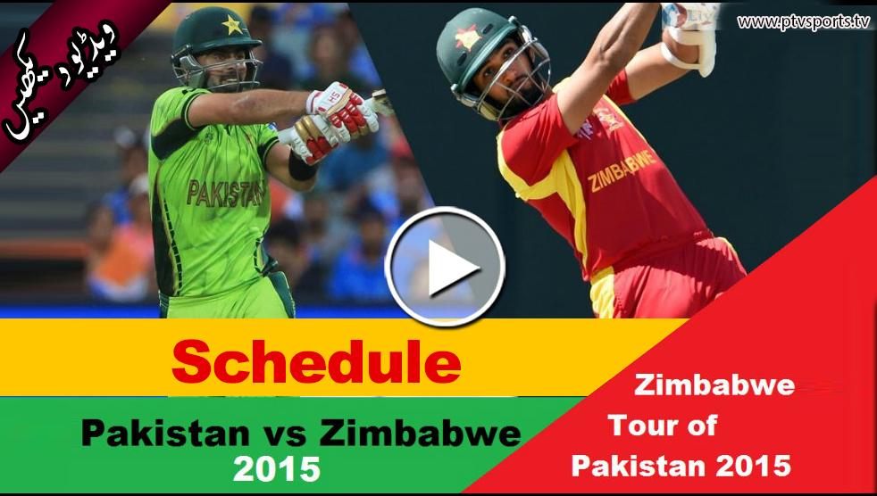 Pakistan Vs Zimbabwe Series 2015 Schedule Time And Date