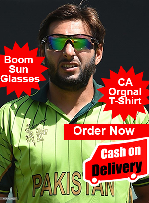 Boom boom afridi Sports Glasses and Tshirts ads pakistan sports cash on delivery