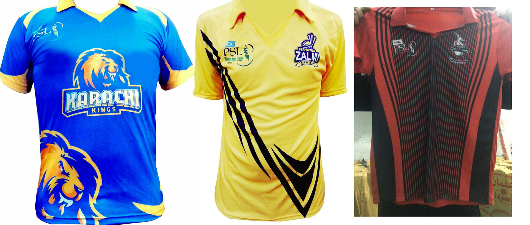 Pakistan Super League PSL T20 T-Shirts replica T-Shirt Karachi Kings Peshawar Zalmi Islamabad United Lahore Qalandars Quetta Gladiators