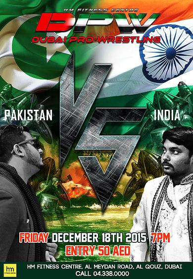 India VS Pakistan Dubai Pro Wrestling Friday, 18th December 2015