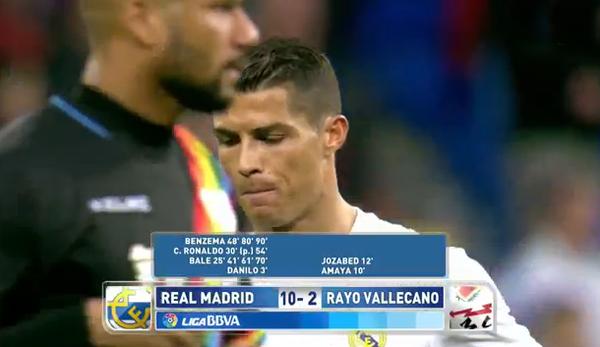 Real Madrid 10-2 Rayo